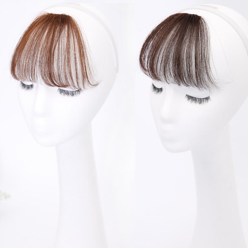 Haarteile Isheeny Schwarz Braun Remy Fringe Clip In Menschliches Haar Pony 10g Natürliche Dünne Clip Pony Stück