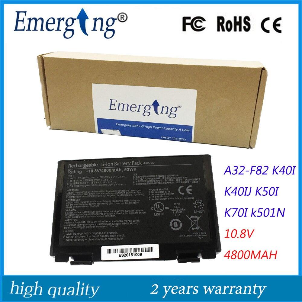 10.8v 4400mah Japanese Cell New Laptop Battery for ASUS F82 F83S K40 K40E K40IN K50 K50IN K60 K6 Calibrate