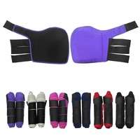 2 PCS Horse Leg Boots Equine Front Leg Horse Boots Wrap Equestrian Leg Protection Neoprene Horse Hock Brace Protection