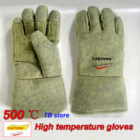 500 degrees heat insulation gloves High temperature resistant gloves to hot flame retardant anti scald fire Aramid fiber woven