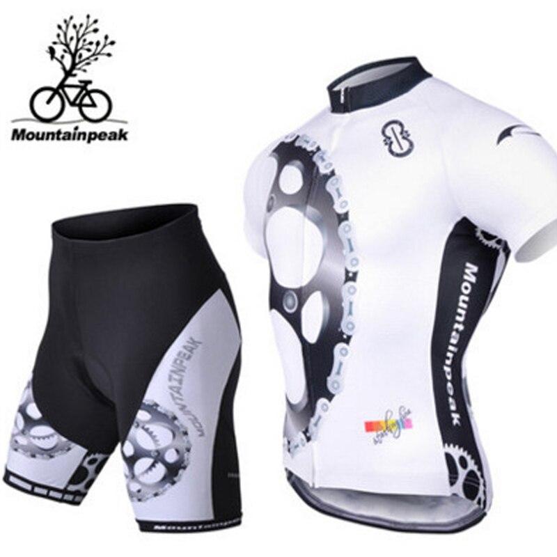 Alpinpeak nouvel été printemps UV protéger Sports en plein air course cyclisme Jersey ensembles vélo de route vêtements séchage rapide à manches courtes