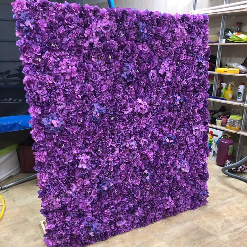 60*40 centímetros Artificial Flores DIY Flores de Tecido de Seda Decoração Do Casamento Parede Cenários de Falso Flor Rosa Festa de Aniversário Suprimentos