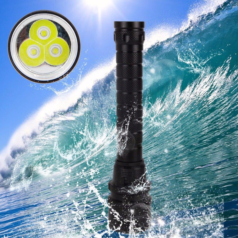 Underwater 60m Diving Flashlight Waterproof 3800Lm 3x XM-L T6 LED Light Scuba Diving Lamp Torch Diver Lamtern