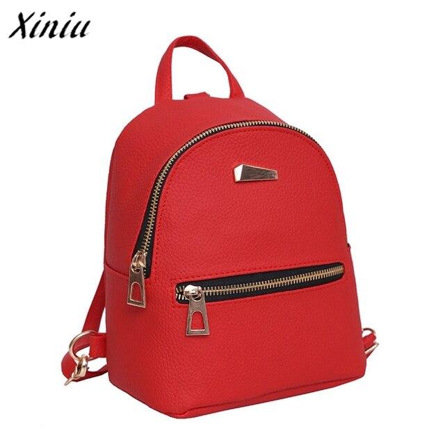 Bolsas 2017 Backpack women Vintage Travel Cute School bags for women  Shoulder bags Bolsa feminina Rucksack damen Red 44316ef8900b4