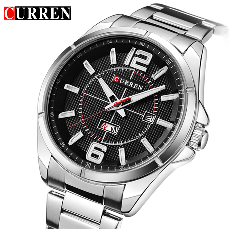 CURREN Wristwatch 2017 Quartz Watch Men Watches Top Brand Luxury Famous Fashion Wrist Watch Male Clock Relogio Masculino Hodinky new stainless steel wristwatch quartz watch men top brand luxury famous wrist watch male clock for men hodinky relogio masculino