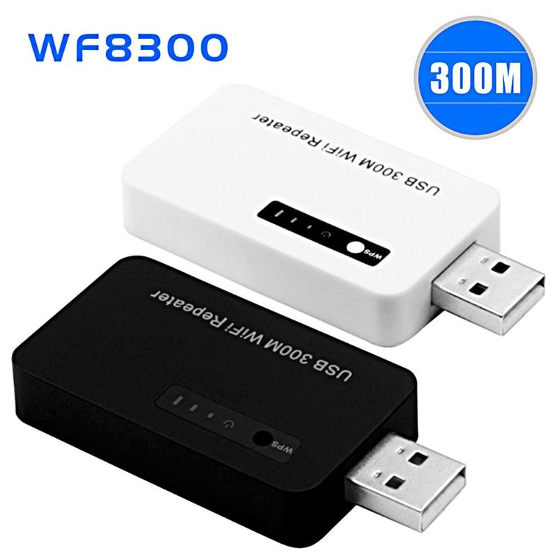 ALLOYSEED USB 300M WiFi Repeater Wireless Amplifier Network Router Expander Signal Booster USB Dongle Adapter For Phone Laptop