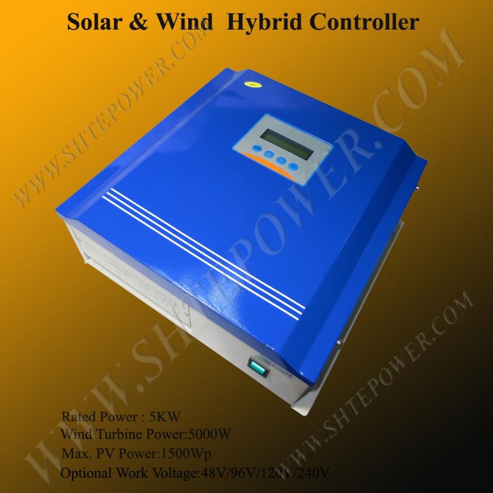 все цены на 5KW 48V solar panel and wind turbine controller LCD with dump load resistor онлайн