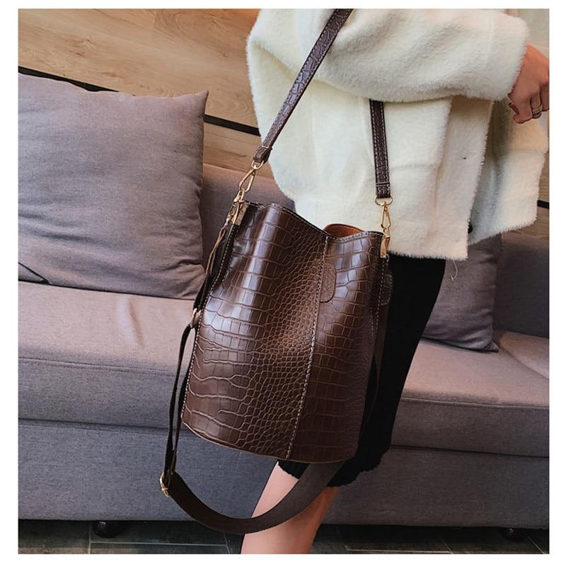 New Vintage Men Women Crocodile Leather Travel Luggage Bag Shoulder Bag Handbag