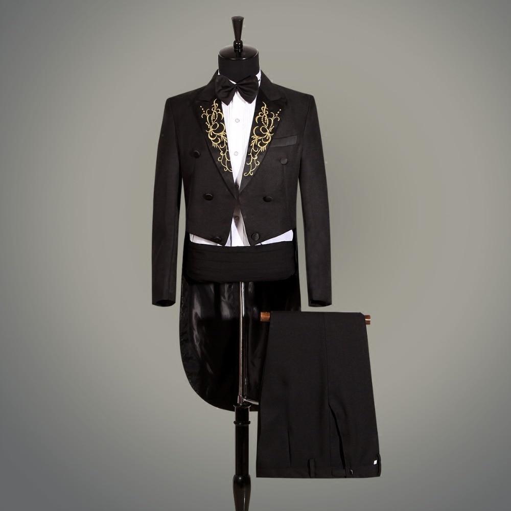Tuxedo magic wedding prom trajes formales novio ropa de hombre - Ropa de hombre - foto 4