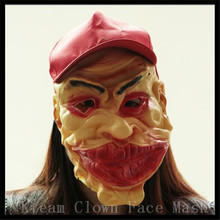 New Type Funny Scary Clown Mask Full Face Cosplay Horror Masquerade Adult Ghost Mask Halloween Props Costumes Fancy Dress Party