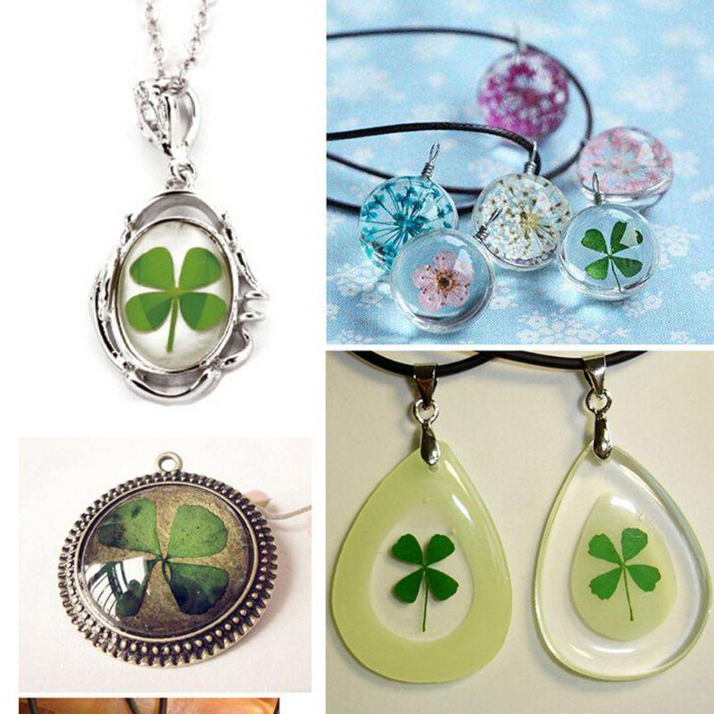 10Pcs Dried Leaf Clover UV Resin Decor Nail Art Epoxy Mold DIY Filling Jewelry