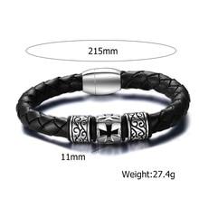 Fashion Vintage Men's Braided Leather bracelet