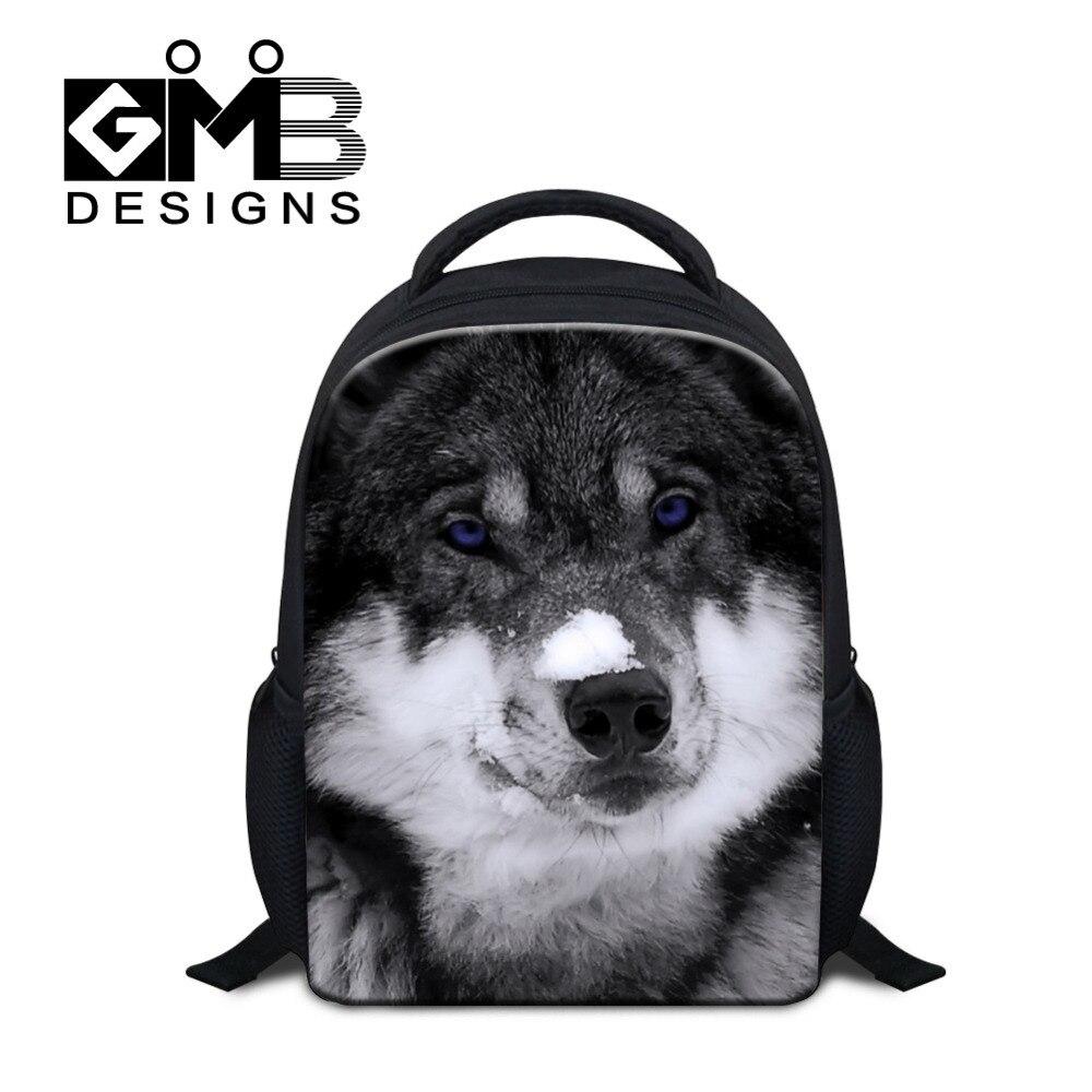 3ea5da40689 US $15.63 32% OFF|Dispalang Animal Mini School Bag For Kindergarten Baby  Wolf Printing Children Backpack Kids Casual Travel Bag Mochila Infantil-in  ...