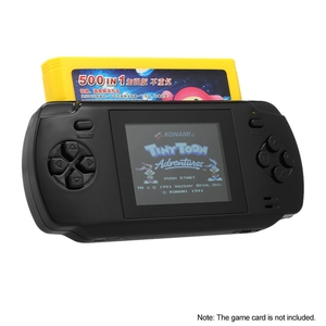 Image 4 - Powkiddy S600 2.8 אינץ משחק קונסולת מובנה 68 משחקים קלאסיים 8 סיביות Av החוצה וידאו כף יד Gamepad שחור החדש