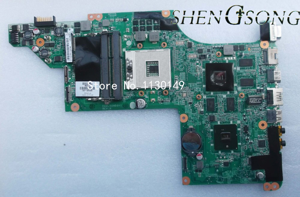 605320-001 Free Shipping Original laptop mainboard 615307-001 for HP Pavilion DV7 DV7-4000 motherboard DA0LX6MB6H1 original for hp cq320 cq321 motherboard 605746 001 6050a2327701 mb a02 ddr3 maiboard 100
