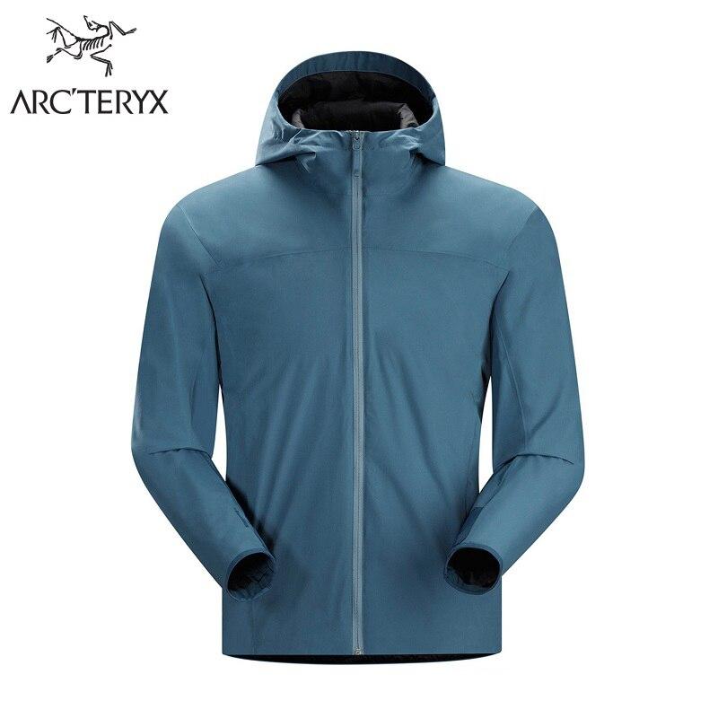 Arcteryx Winter Men Windproof Thermal Softshell Jackets Men's Breathable Fleece Camping Hiking Jackets Solano P50 WindStopper 2L стоимость