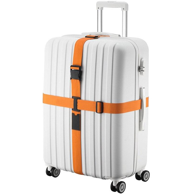 Ремешок для багажа крест пояса упаковка ленты регулируемый путешествия чемодан Нейлона Без Блокировки Пряжки ремень багажа ремень (только ... ...