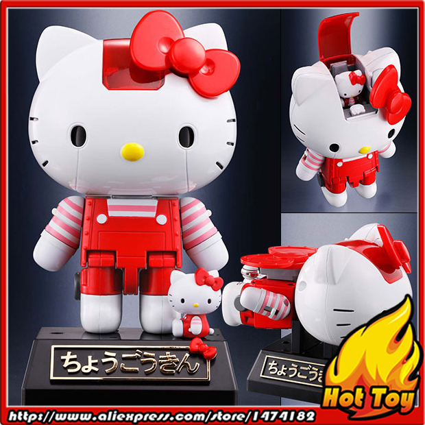 цена на 100% Original BANDAI Tamashii Nations Chogokin Action Figure - Hello Kitty (Striped) from