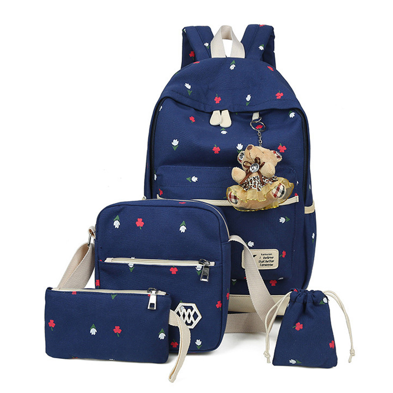 3 Pcs/set Child School Bags Printing School Backpack Schoolbags Big Capacity Travel Bag Book Bag Kids Bags Mochila Sac A Dos