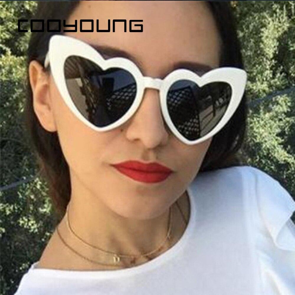 COOYOUNG Heart Sunglasses Women Brand Designer Sun Glasses Retro Love Heart Shaped Glasses Ladies Shopping Sunglass UV400
