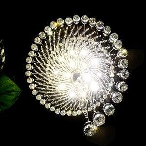 Image 5 - نجفة إضاءة حديثة من ماركة فومات K9 مصباح معلق LED كريستال مصباح حلزوني لغرفة المعيشة درج لامع ثريا لغرف النوم والقاعة