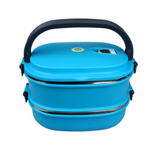 2 Layer Thermal Lunch Bento Box For Food Storage Camping Portable Picnic With Tableware Set Bag Container -30