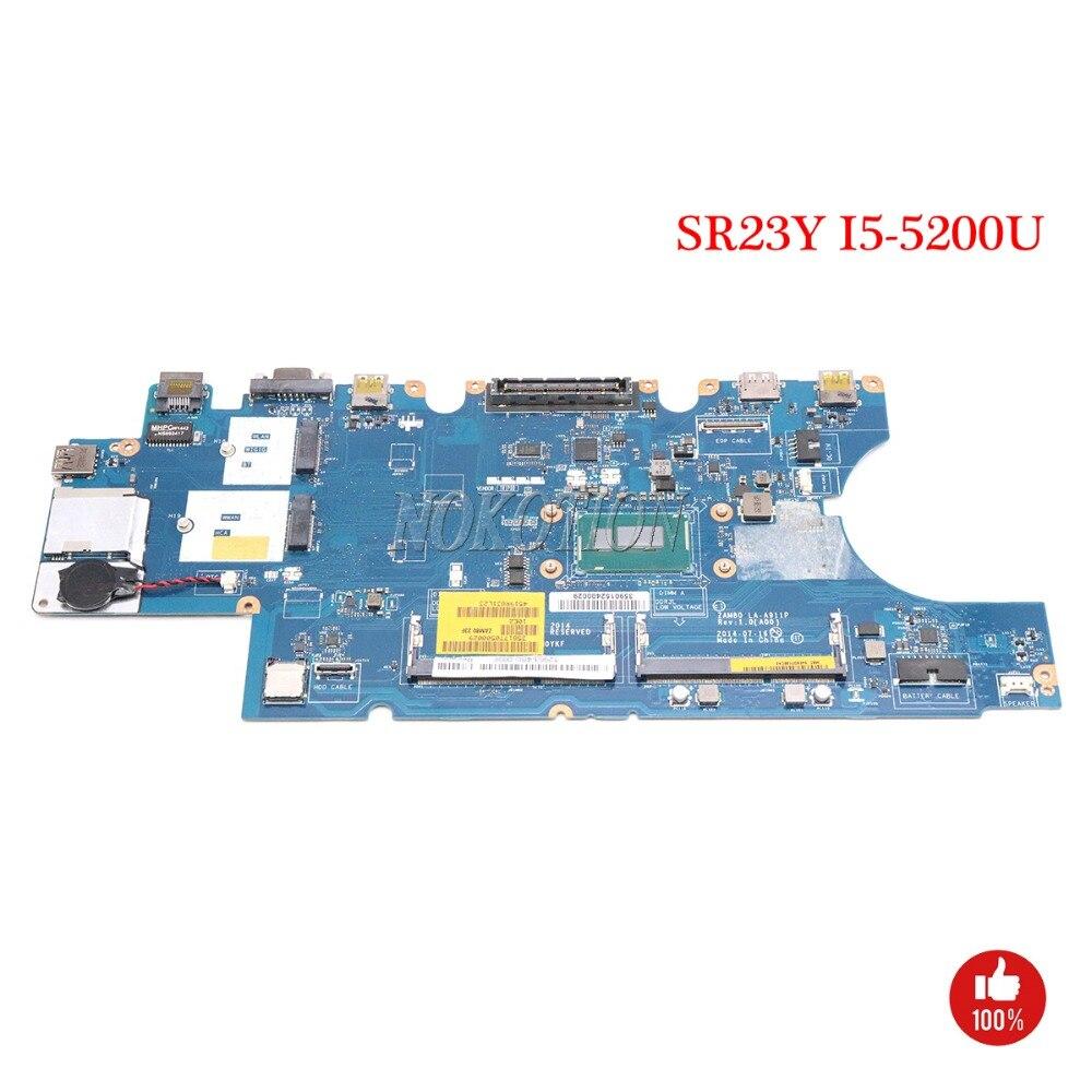 NOKOTION CN-0W4CTJ 0W4CTJ W4CTJ carte Principale pour Dell Latitude 15 E5550 Ordinateur Portable Carte Mère ZAM80 LA-A911P SR23Y I5-5200U DDR3L