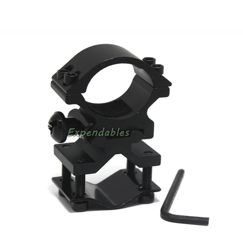 Universal Metal Rail Clip 25mm Ring 20mm Rail Gun Mount Tactical Flashlight Laser Torch Bracket For 501B C8 Hunting Flash Light