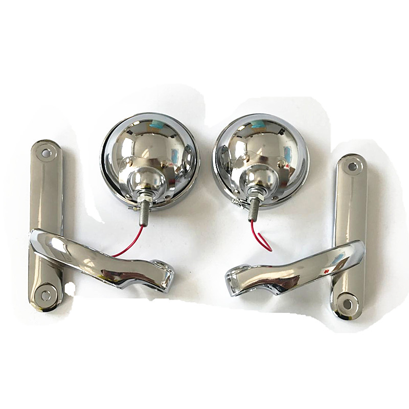 1 Set Chrome Motorcycle Auxiliary Lighting Brackets and Buckets for For Harley Davidson 09-15 Touring комплект ручек защелок bussare 37 03 chrome