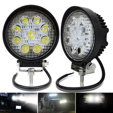 цена на 2pcs 4inch 27W led worklight work working light lamp spot Flood off road 27W led work light 12V car LED tractor work lights 24V