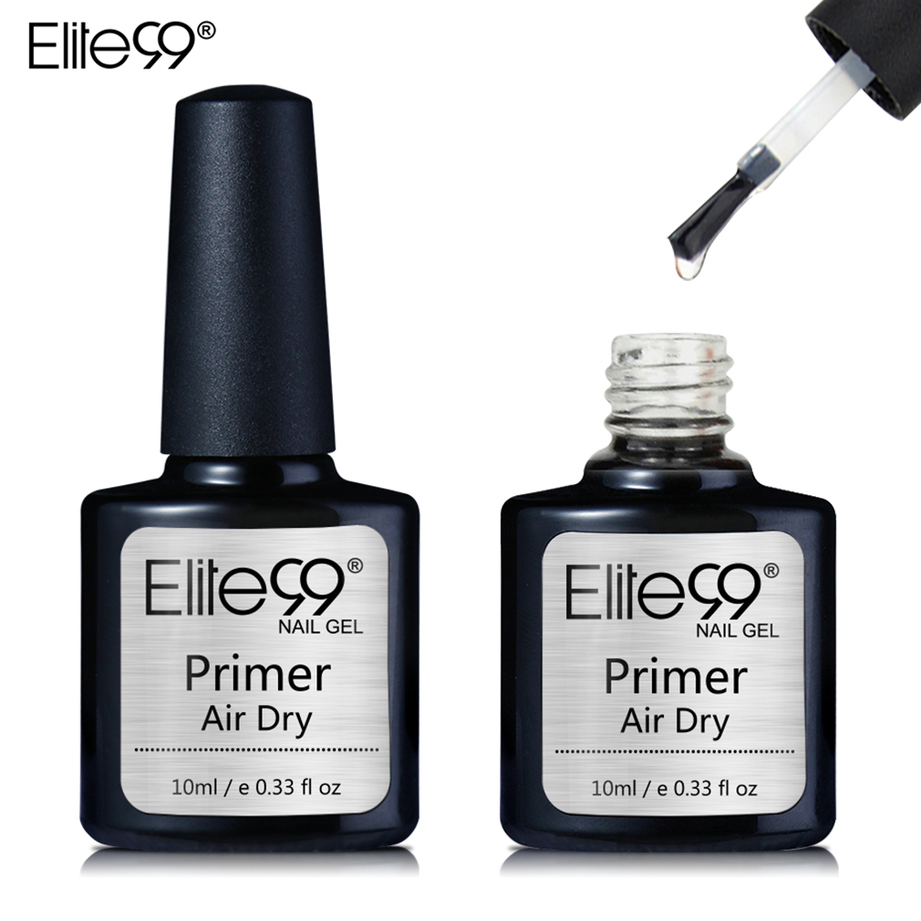 Elite99 10ml Fast Air Dry Primer UV LED Gel Base Primer No Need Of UV/LED Lamp Soak Off Gel Nail Polish For Nail Art Design
