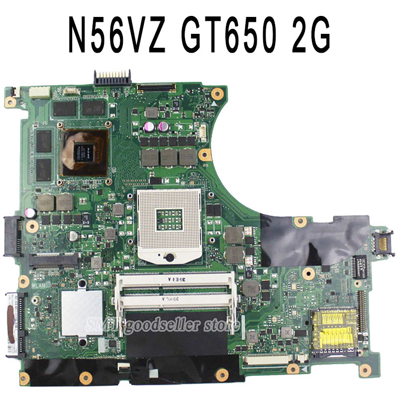 цены  For ASUS N56VM N56VZ N56VB Laptop motherboard N56VM mainboard REV2.3 Non-Integrated with Graphics card GT650 2GRAM