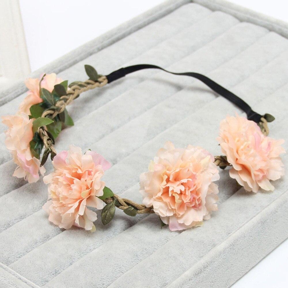 Summer Bohemian Handmade Flower Crown Wedding Bridal Hair
