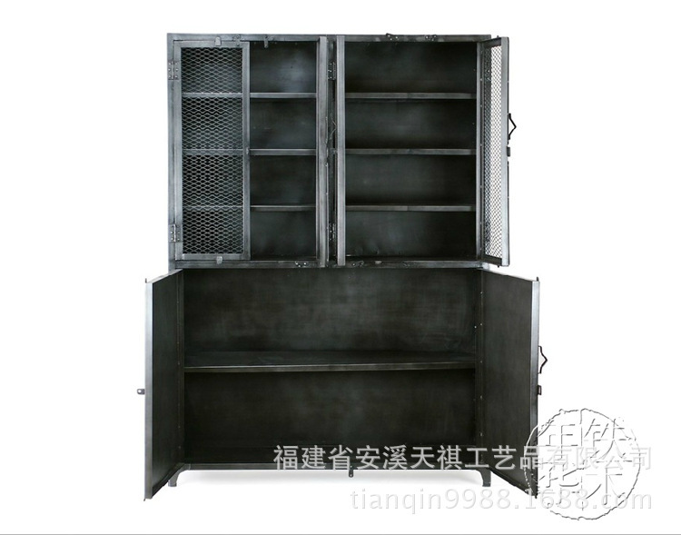 American Vintage Industrial Metal Shelving Storage Rack Iron Craft Bookshelf Hotel TV Cabinet Office In Beds From Furniture On Aliexpress