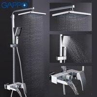 GAPPO смесители для душа настенный смеситель для ванной комнаты набор для душа смеситель кран Водопад Ванная кран Душ griferia краны