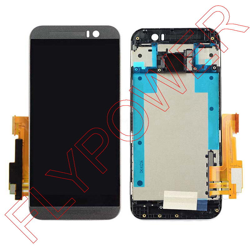 ФОТО LCD for HTC One M9 LCD Display with Touch Digitizer Screen and Frame Full Set Black Color free shipping