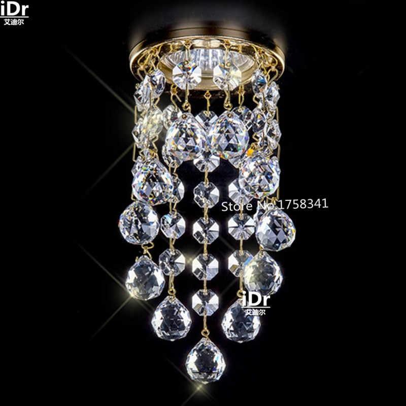 Baru modern mini lampu kristal ruang tamu pencahayaan Dia8 * H15.5cm pengkilap de cristal kristal koridor cahaya lampu LED