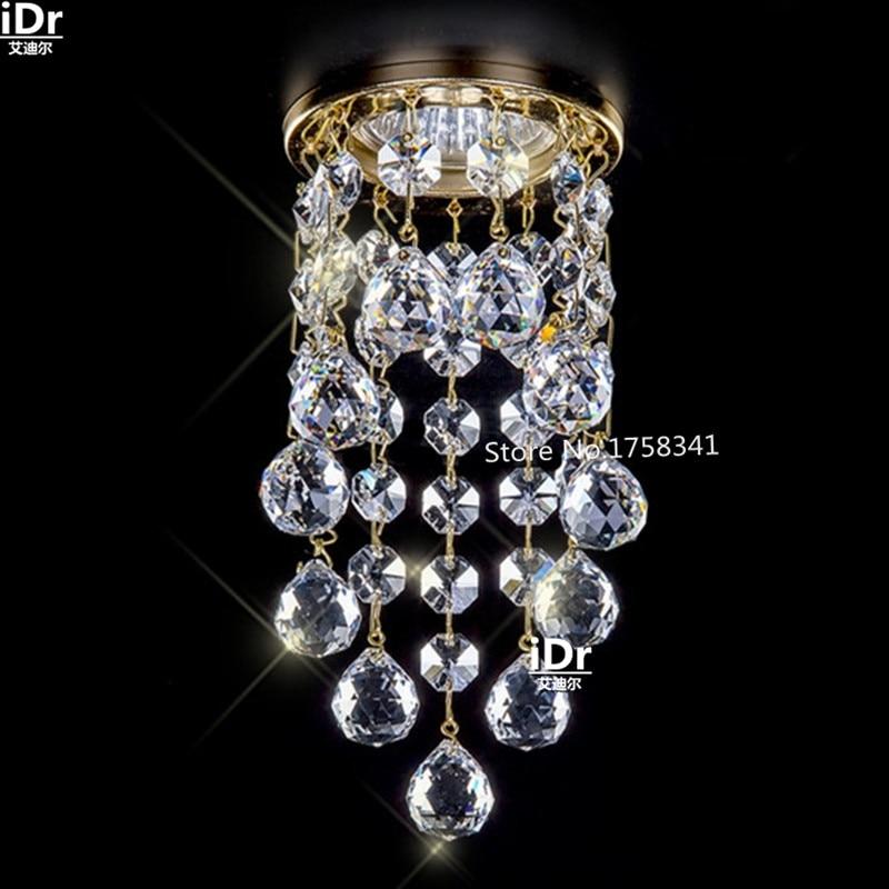 New Modern Mini Crystal Chandelier Lustres De Cristal Living Room Lighting Dia8*H15.5cm Crystal Corridor Light LED Lamps