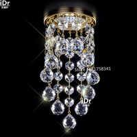 Nuevo moderno mini candelabro de cristal lustres de cristal living room lighting Dia8 * h5.5cm cristal pasillo luz LED lámparas