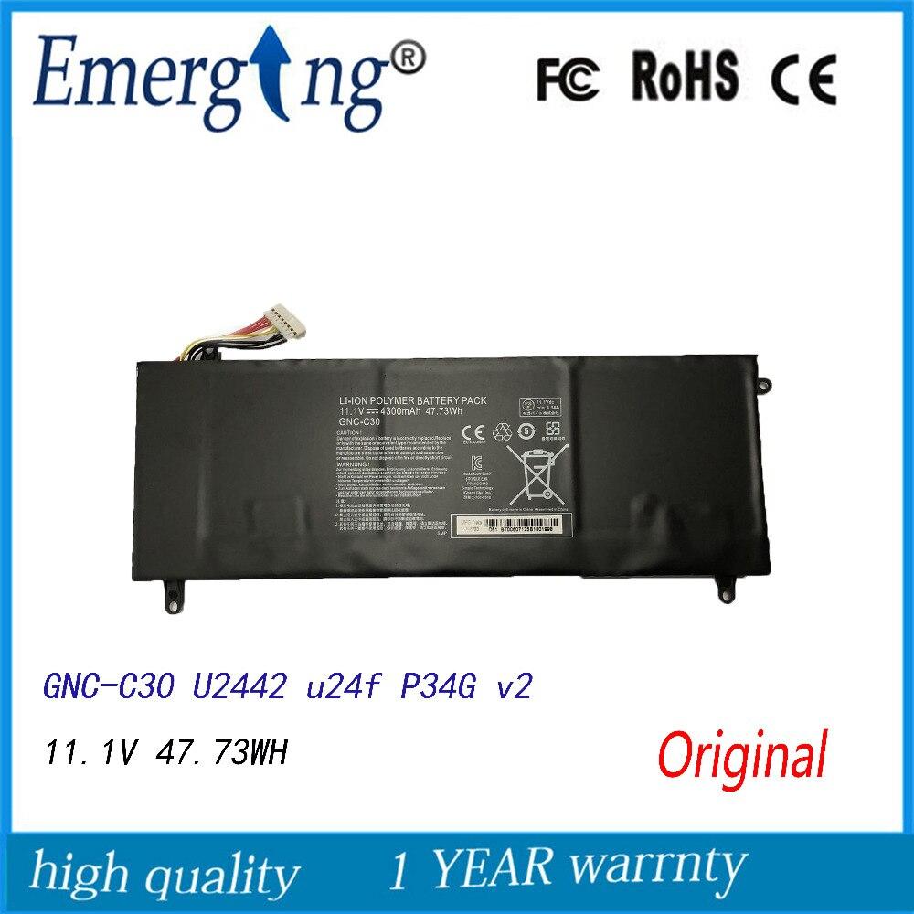 11.1 V 47.73WH Nouvelle Batterie D'ordinateur Portable Pour GIGABYTE GNC-C30 U2442 U24F P34G V2