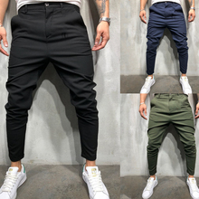 PADEGAO Brand 2019 New Mens Wear Simple, Thin, Leisure Fashion Comfortable Pure Pants Ankle-Length