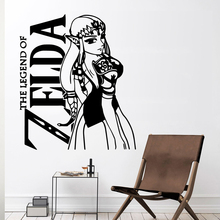Large THE LEGEND OF ZELDA Vinyl Waterproof Wall Decal Removable Wall Sticker Room Decoration stickers muraux day of the dead girl skull head vinyl wall decal sticker