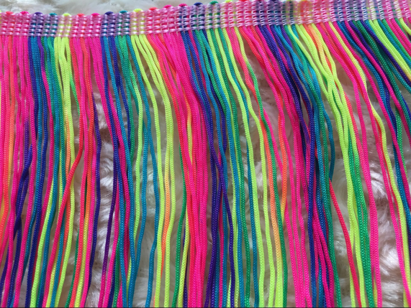 9CM-15CM-20CM different size colorful tassel trimming 2018 new!10 Meters/pack fringe trims for dance dresses sewing HOT!