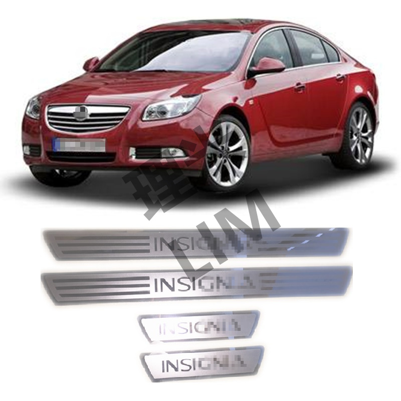 Sesuai untuk OPEL VAUXHALL Insignia Stainless Steel Mirror Surface Scuff Plate Door Sill Cover Trim Car Styling Accessories