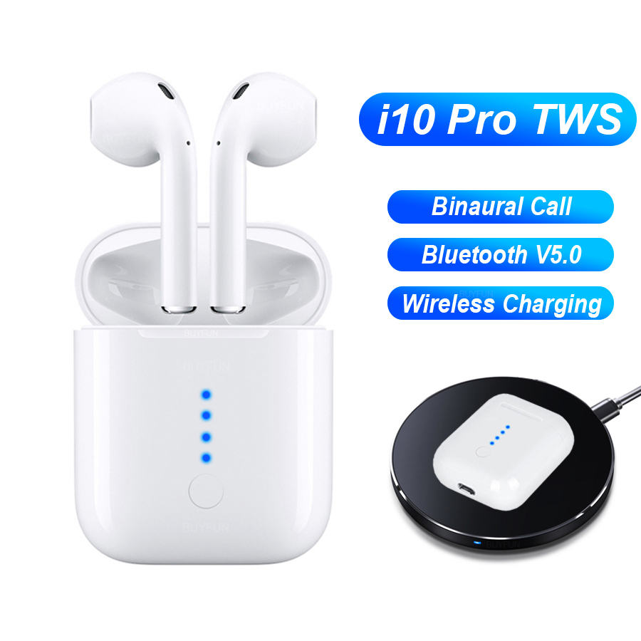 Nouvelle i10 pro tws écouteur sans fil bluetooth écouteurs sans fil de charge tactile d'appel binaural écouteurs d'origine i10-tws pk i12
