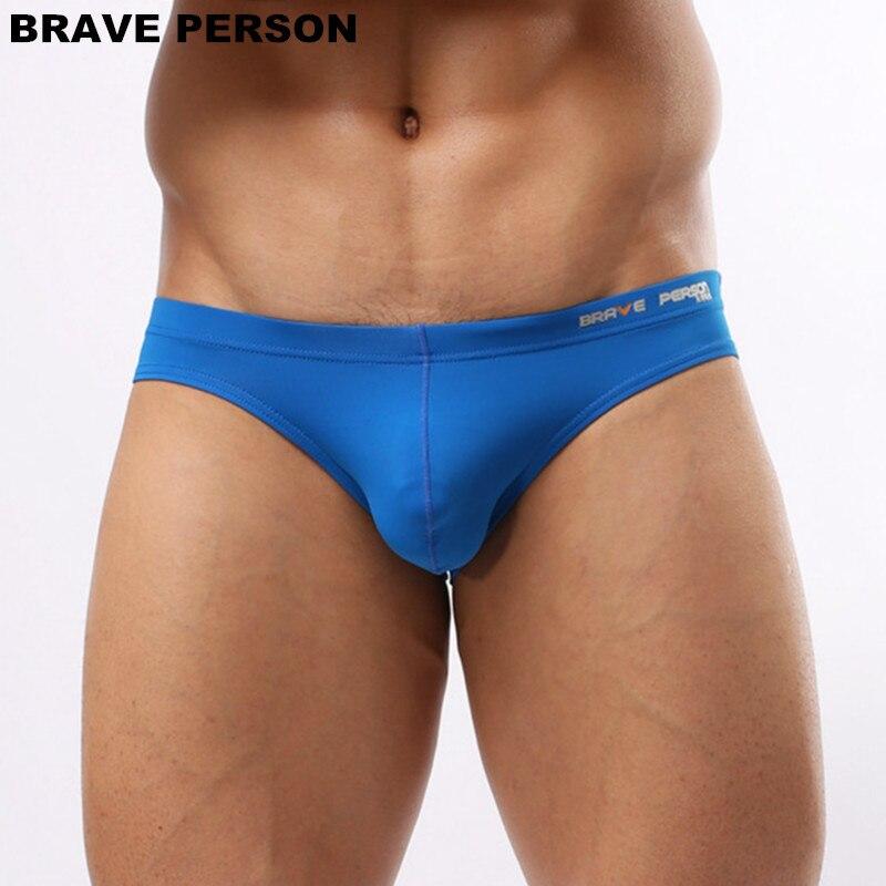 Brave Person Sexy Underwear Men Briefs Nylon Mens Bikini Briefs Man Underpants Pouch Male Panties Sheer Bikini Swimming Trunks