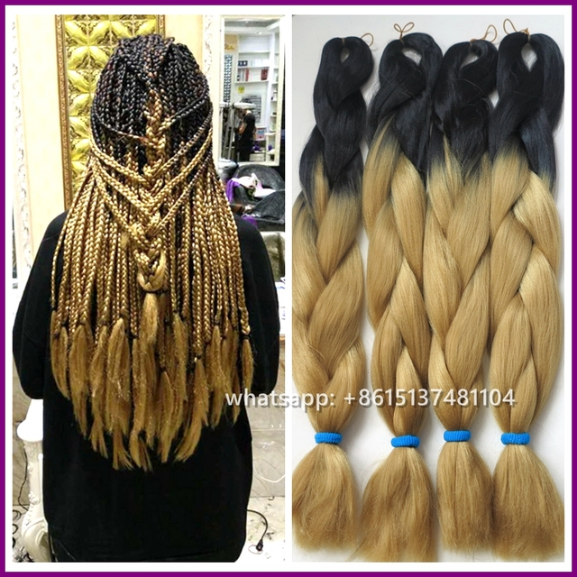 Free Shipping 10packs 24 100g Two Tone Color Synthetic Braiding