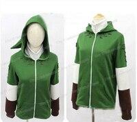 The Legend of Zelda Green Zip up Hoodie Sweatshirt Cotton Long Sleeve Coat Cosplay Costume New Arrival