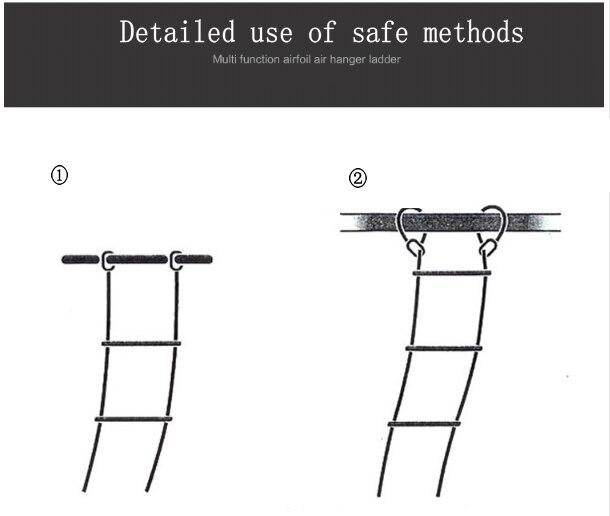 15 метров спасательной веревки Ladder50FT лестнице аварийного рабочая обувь ответ спасения скалолазание Escape смолы и полиэстер