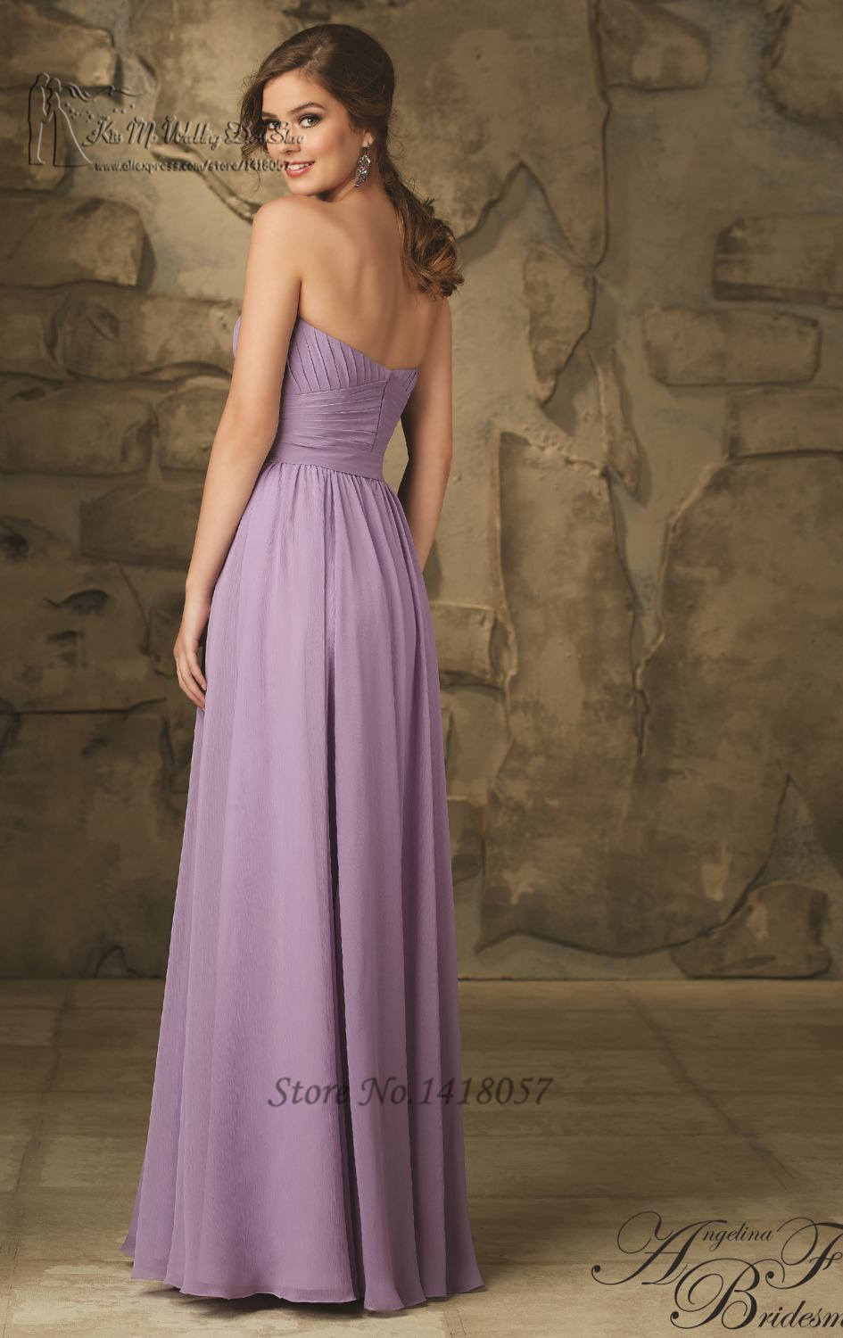 Free shipping cheap purple bridesmaid dresses 2016 vestido de free shipping cheap purple bridesmaid dresses 2016 vestido de madrinha de casamento longo long wedding party dress pleat in bridesmaid dresses from weddings ombrellifo Image collections